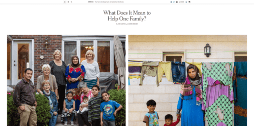 They took in one refugee family. but families don't have borders.   the new york times   2016 10 23 13.17.54