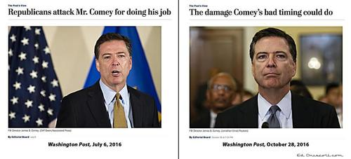 Post on comey hillary then and now 10 31 16