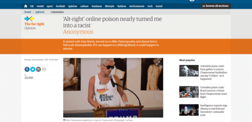 'alt right' online poison nearly turned me into a racist anonymous opinion the guardian   2016 11 29 20.11.071