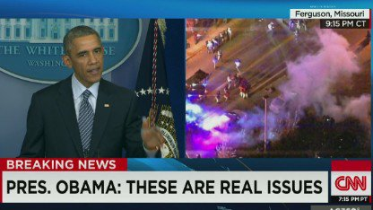 141124234201 sot obama ferguson speech tear gas smoke 00001505 c1 main
