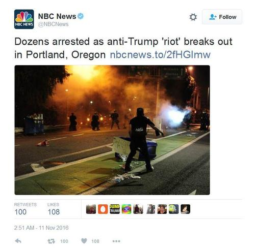 Nbc anti trump riot scare quotes 11 11 16 1