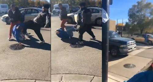 Trump supporter attacked dragged through street