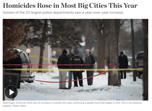 Homicides rose in most big cities this year   wsj   2016 12 23 16.49.08