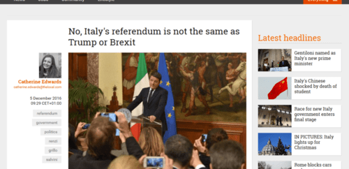 No italy s referendum is not the same as trump or brexit   the local   2016 12 11 21.36.29