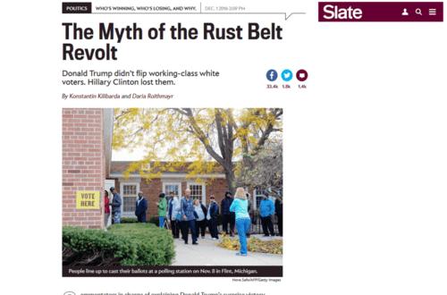 The myth of the rust belt revolt.   2016 12 04 22.59.04