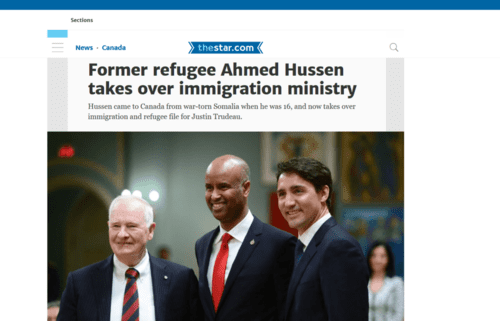 Former refugee ahmed hussen takes over immigration ministry toronto star   2017 01 11 11.10.10