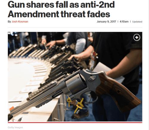 Gun shares fall as anti 2nd amendment threat fades new york post   2017 01 09 12.29.34