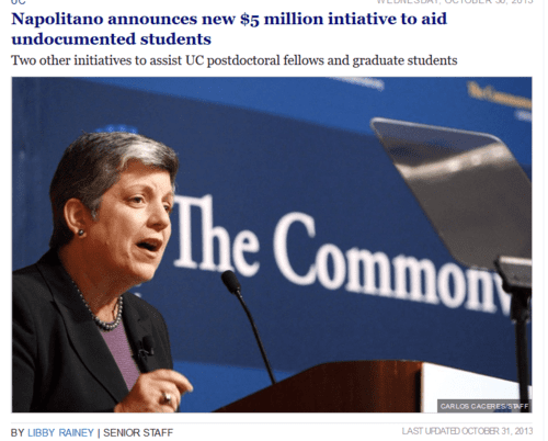 Napolitano announces new 5 million intiative to aid undocumented students the daily californian   2017 01 08 18.31.44