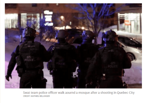 Quebec mosque shooting six people killed and two suspects arrested after terrorist attack on muslims   2017 01 30 11.44.58