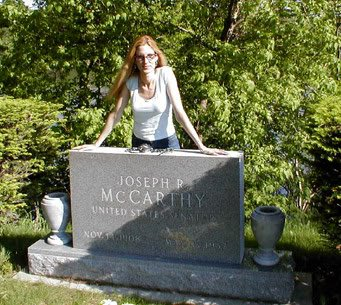 Ann Coulter visits Joe McCarthy's grave.