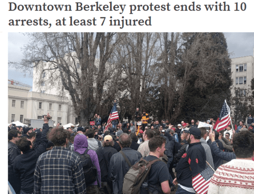 Downtown berkeley protest ends with 10 arrests at least 7 injured — berkeleyside   2017 03 07 17.59.14