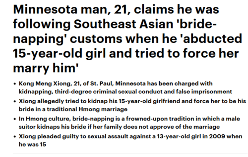 Minnesota man kidnapped teen and tried to force her into traditional hmong marriage daily mail online   2017 03 30 19.26.32