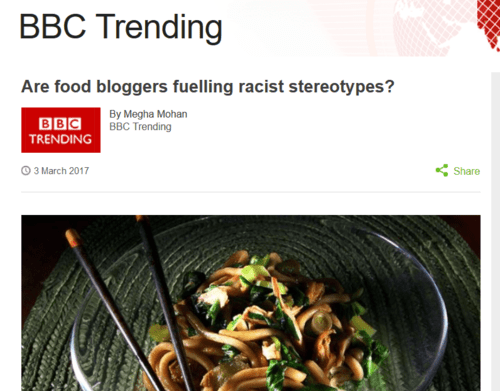 Page shot 2017 3 4 are food bloggers fuelling racist stereotypes  bbc news
