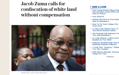 Page shot 2017 3 4 jacob zuma calls for confiscation of white land without compensation