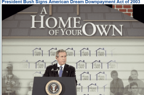 President bush signs american dream downpayment act of 2003   2017 03 11 10.13.06