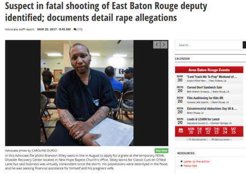 Suspect in fatal shooting of east baton rouge deputy identified documents detail rape allegations crime police theadvocate.com   2017 03 20 13.07.24
