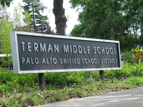 Terman middle school billboard