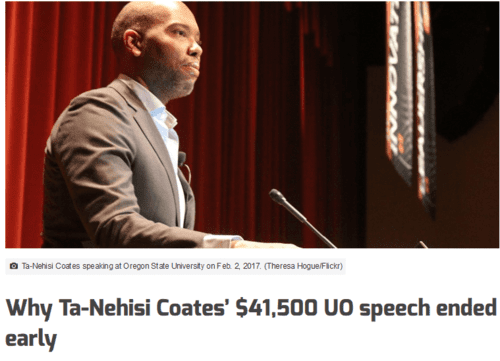 Why ta nehisi coates 41500 uo speech ended early   emerald media   2017 03 20 22.53.09