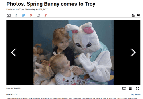 Photos spring bunny comes to troy   times union   2017 04 15 19.47.11