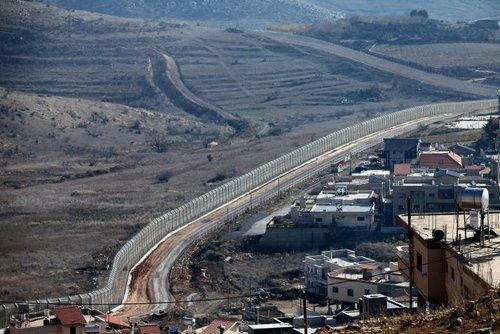 Israeli syrian border on the golan heights photo courtesy moshe shai flash90