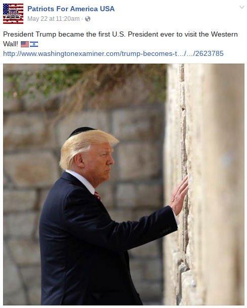 Trump at wall