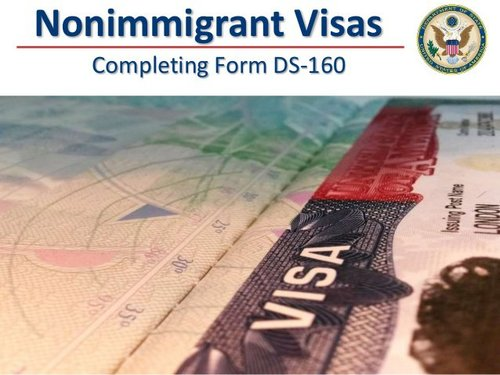 Us nonimmigrant visas completing form ds160 1 638