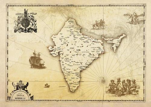 Vintage map india r01 0 0