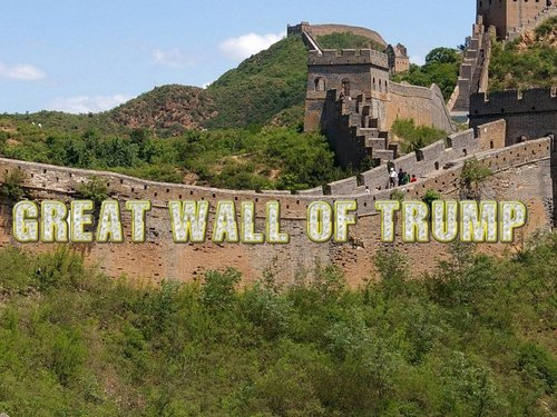 Donald trump well call it the great wall of trump