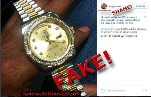 Fakewatchbusta jerryjeweler shame