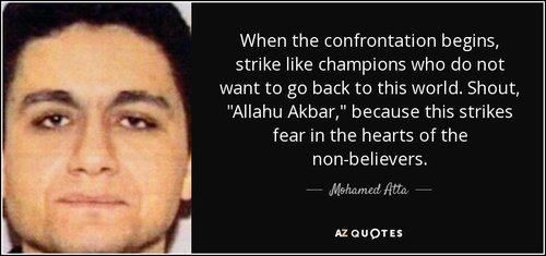 Quote when the confrontation begins strike like champions who do not want to go back to this mohamed atta 66 62 27