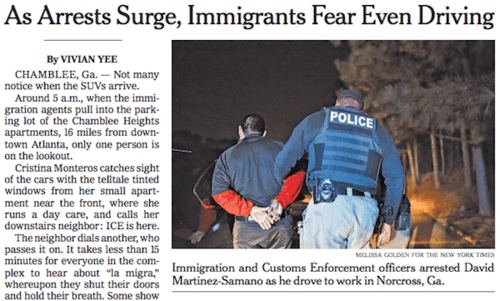 Asarrestssurgeimmigrantsfeardriving nytgpnov26