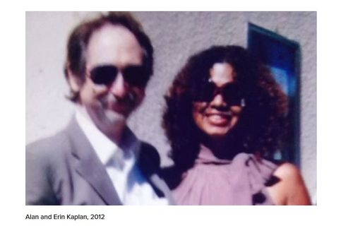 Ms. Kaplan with husband Alan