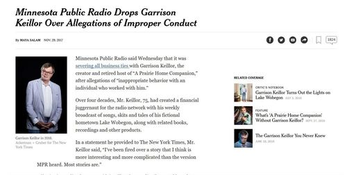 Public Radio Drops Garrison Keillor >> And Then They Came for ... Garrison Keillor | Blog Posts | VDARE.com