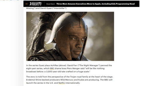 Homer Said Achilles Was Blond—Netflix Hired An African To Play Him