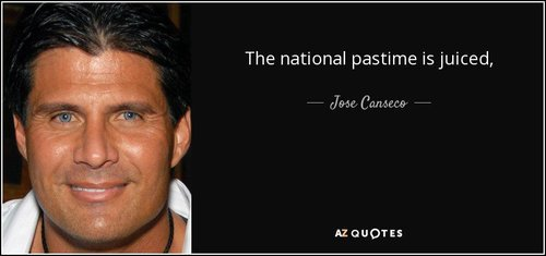 Quote the national pastime is juiced jose canseco 92 9 0989